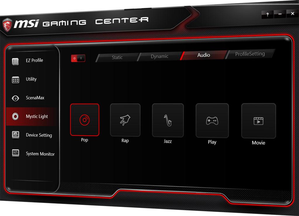 MSI Gaming Center Mystic Light