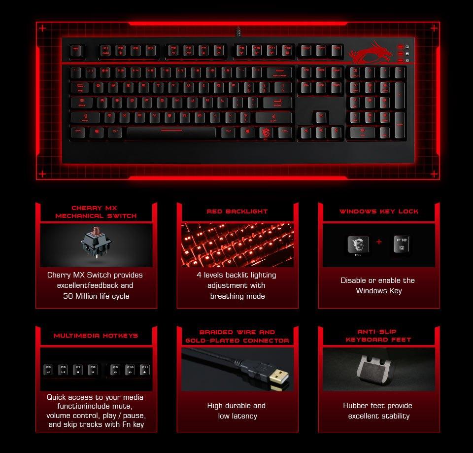 MSI GK-701 GAMING Keyboard UK