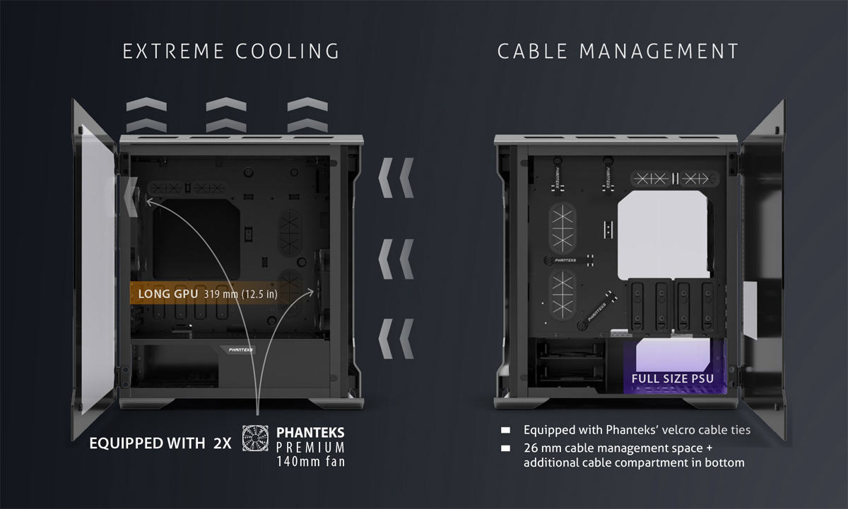 Details about Phanteks Enthoo Evolv Micro-ATX Glass Case - Silver