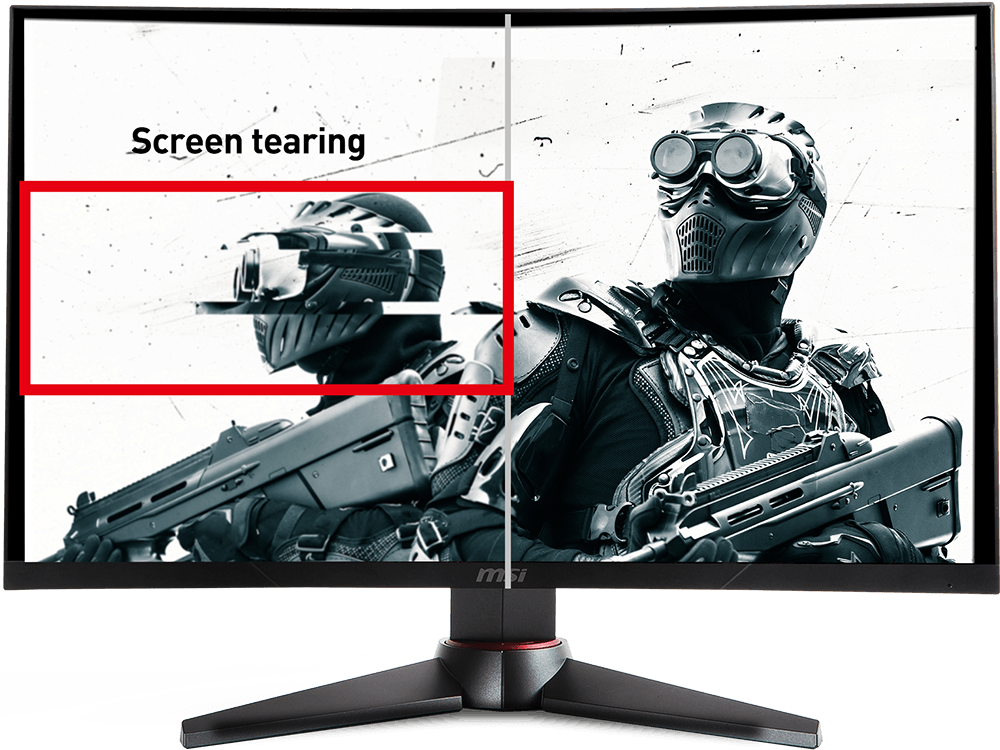 MSI Optix MAG24C screen tearing