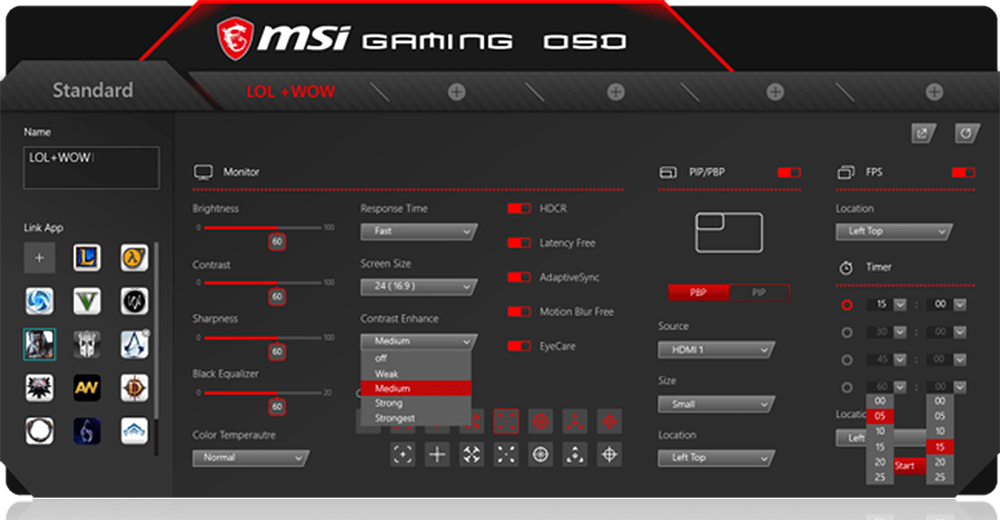 MSI Optix OSD APP