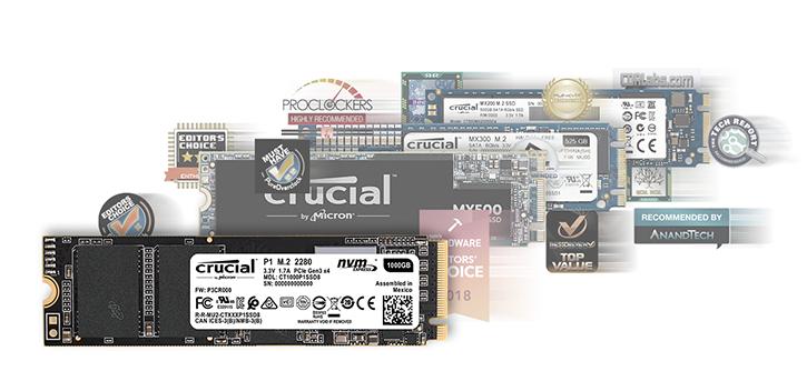 Crucial P1 1TB 3D NAND NVMe PCIe M 2 SSD