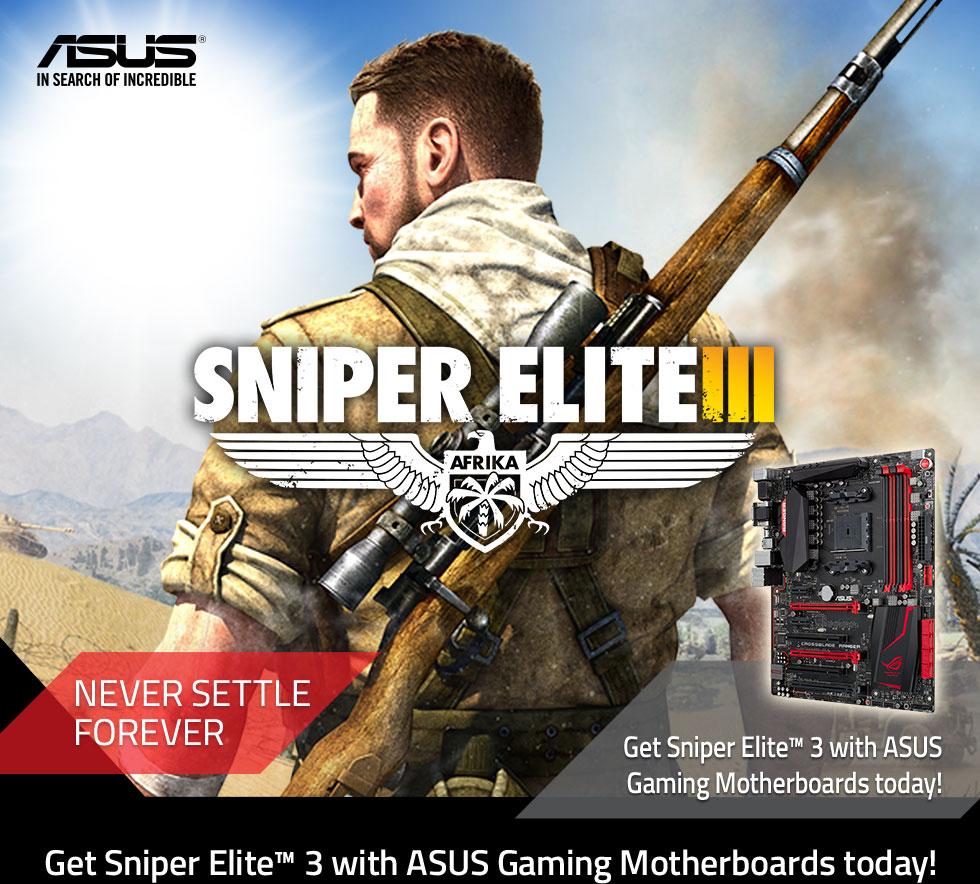 Asus Sniper Elite 3 Promo