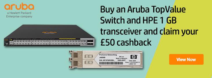 Aruba HPE free transceiver offer