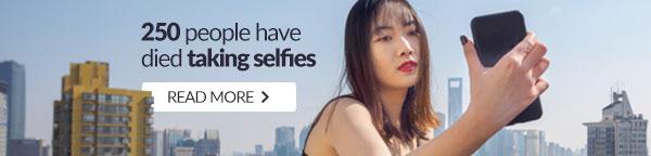 250 people have died taking selfies