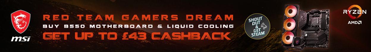 Red Team Gamers Dream Cashback
