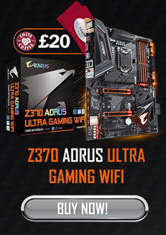 GET UP TO A £20 COSTA COFFEE GIFT CARD WHEN YOU BUY SELECTED Z370 AORUS MOTHERBOARDS