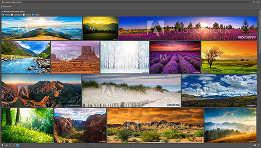 Adobe Stock built right in