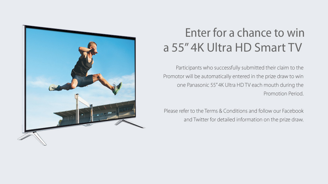 Enter for a chance to win a 55inch 4K Ultra HD Smart TV
