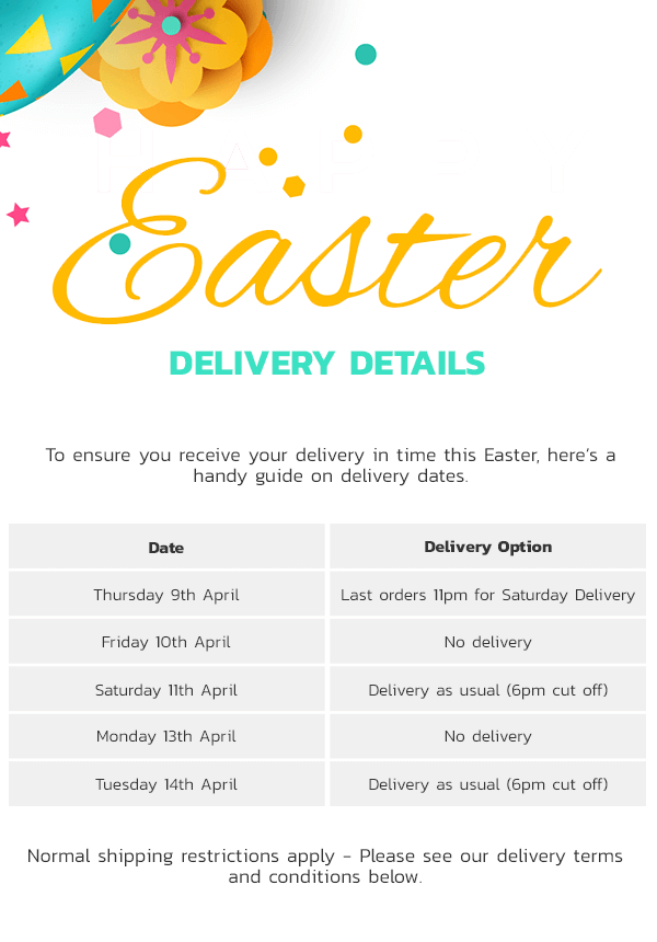 Easter Delivery Times