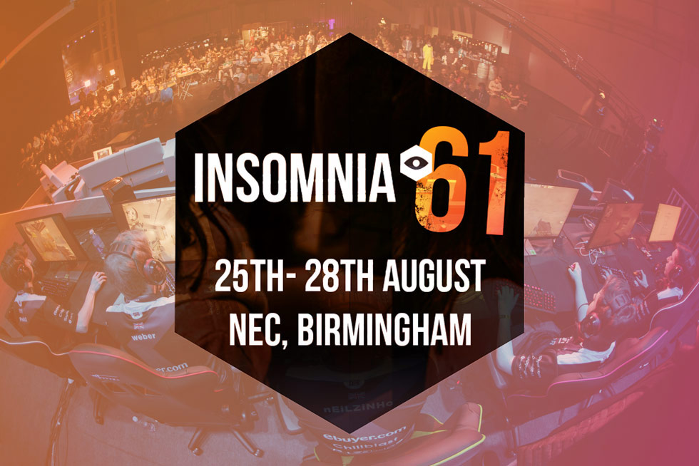Insomnia 61 - 25th-28th August, Birmingham