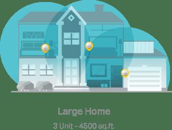 Large Home   3 Units - 4,500 sq.ft.