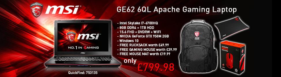 MSI Apache Gaming Laptop