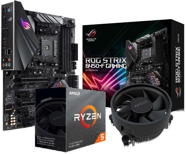 ASUS ROG STRIX B450-F GAMING Motherboard with AMD Ryzen 5 3600 Processor Bundle