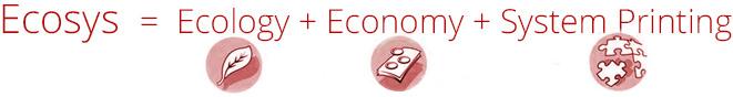 Ecosys = Ecology + Economy + System Printing